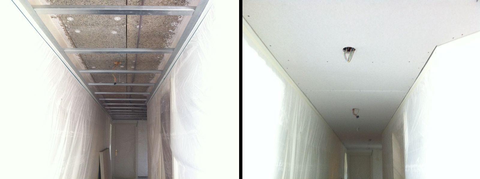 Faux plafond couloir led pour plafond best faux images on - Revetement mural couloir ...